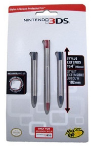 Nintendo 3DS Stylus & Screen Protector Pak (3DS)