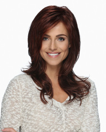 Estetica Front Lace Long Wavy Wig Layers and Side Bangs  Mackenzie