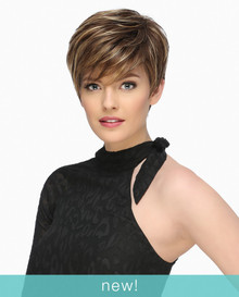 Estetica Front Lace Short Pixie Wig w/ Long Side Bang Jett