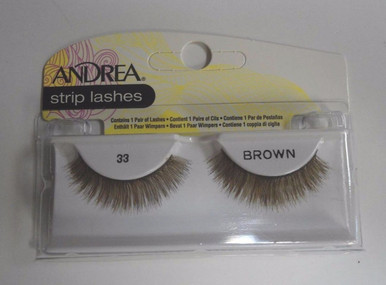 Andrea Fashion Strip Lashes Eyelash Style 33 Brown (Pack of 3)