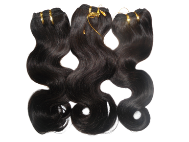 Brazilian 100% Human Hair Body Wave Weave Natural Black (3 pieces) 300g Select Set