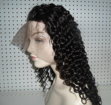 Brazilian 360 Lace Wig 150% Density Human Hair Deep Wave Medium Cap