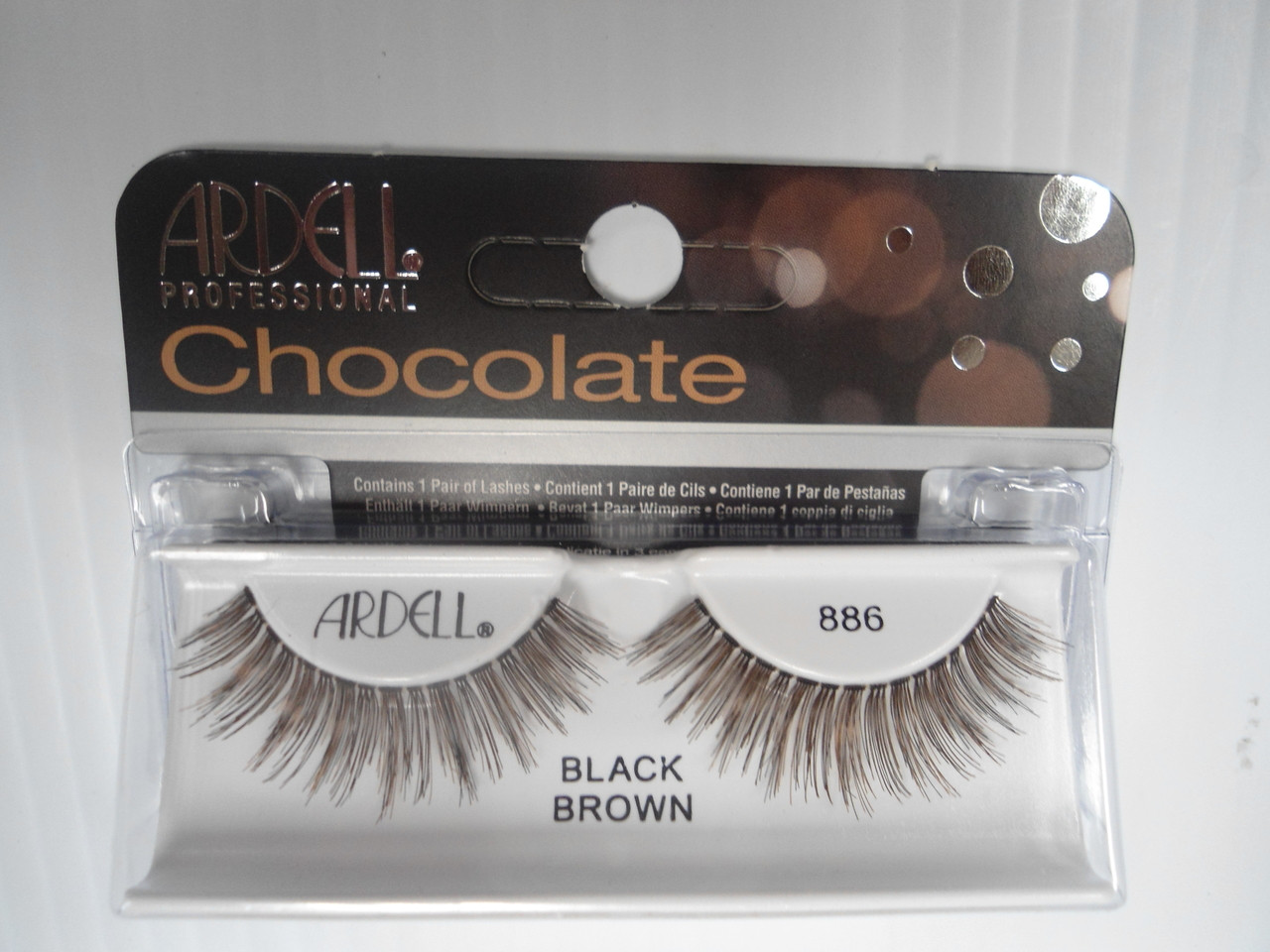 21996cd7422 Ardell Chocolate Strip Lashes 886 Black/Brown (Pack of 4)