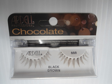 Ardell Chocolate Strip Lashes 888 Black/Brown (Pack of 4)