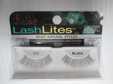Ardell Lashlites False Eyelashes 332 Black (Pack of 4) Easy 3 Steps