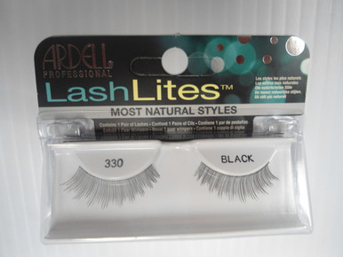 Ardell Lashlites False Eyelashes 330 Black (Pack of 4) Easy 3 Steps