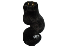 "10"" Brazilian 100% Human Hair Body Wave Weave Color 1B Natural Black"