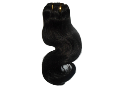 "12"" Brazilian 100% Human Hair Body Wave Weave Color 1B Natural Black"