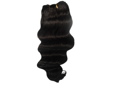 "12"" Brazilian 100% Human Hair Deep Wave Weave Color 1B Natural Black"