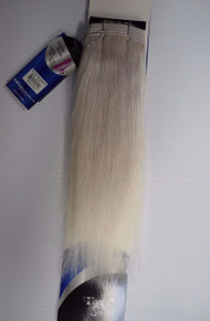 "Foxy Silver 12""  100% Human Hair Straight Weave Track Platinum Grey"