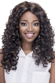 Vivica A Fox Long Synthetic Hair Lace Front Wig Curly Style Piper - Heat OK