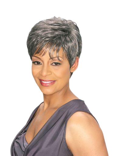 Foxy Silver Synthetic Full  Wig - Edna - Grey Colors Available