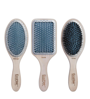 Olivia Garden EcoHair Bamboo Paddle Ionic Bristles 3-pc Brushes Deal