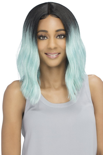 "Vivica A Fox 16"" Long Synthetic Hair Pure Stretch Cap Wig Ivonne - Ombro Colors"