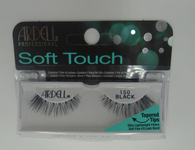 Ardell Soft Touch Tapered Tip Lashes 150 Black Soft Flex, Fit lashband