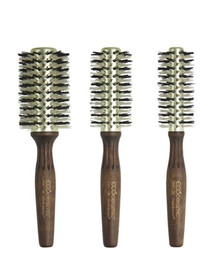 Olivia Garden EcoCeramic Firm Thermal Nylgard Bristles 3-pc Brushes Deal
