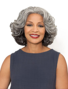Foxy Silver Synthetic Hair Lace Front Wig - Esther - Grey Colors