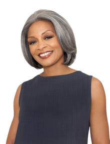 Foxy Silver Synthetic Hair Lace Front Wig - Jeanette - Grey Colors
