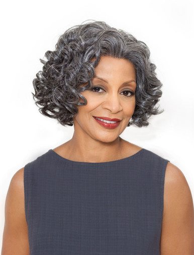 Foxy Silver Synthetic Hair Lace Front Wig - Yvonne - Grey Colors