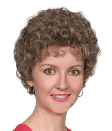 Short Curly Hair Full Wig Blonde Mix - Crystal - Grey Available