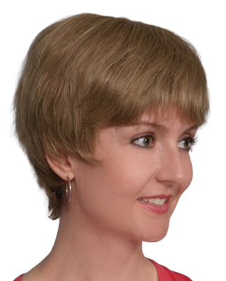 Short Layered Human Hair Full Wig Blonde Mix - Helen - Grey Available