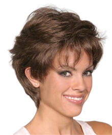 Short Length Wavy Hair Full Wig - Amanda