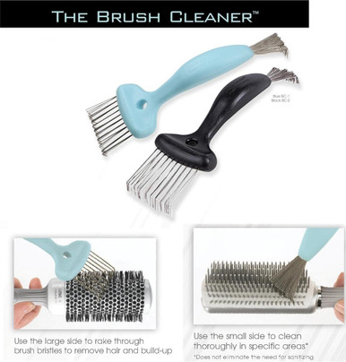 Olivia Garden Brush Cleaner 2-Tools-in-1 Cleans all Sizes & Models BC2 Black