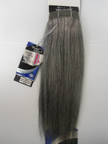 "14"" Salt n' Pepper 100% Human Hair Straight Weave Track Grey Color 51"