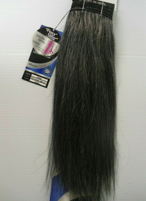 "14"" Salt n' Pepper 100%  Human Hair Straight Weave Track Grey Color 44"