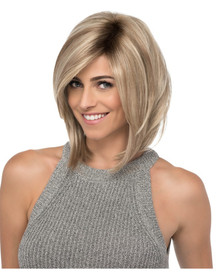 Estetica Front Lace Line Wig Sky Angled Layered Bob w Side Swept Bangs