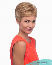 Estetica Pure Stretch Cap Short Full Wig Petite Sally Pixie Cut w Soft Waves