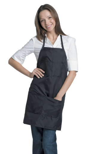 916 Zephyr Apron Adjustable Neck & Waist Ties Fits Most; Black