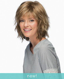 Estetica Pure Stretch Cap Full Wig Jones Choppy Layers w Waves & Wispy Fringe