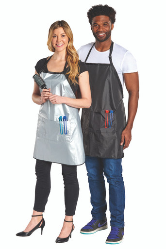 Scalpmaster Reversible Stylist Apron Black/Silver 3 Pockets