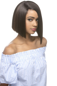 """Vivica Fox 10"""" Lace Front Wig Slight Angled Blunt Cut W/Side Part - Milly"""
