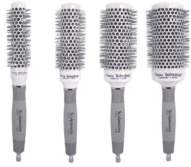 Scalpmaster Nano Technology Ceramic & Ionic Round Brush 4 Brushes Deal