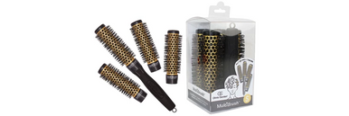 """Olivia Garden 5pc Multi Thermal Brushes: 4 Barrels + 1 Handle 