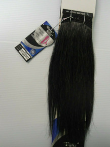 "Foxy Silver 12"" Salt n' Pepper Human Hair Straight Weave Track Grey Color 34"