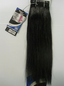 "Foxy Silver 14"" Salt n' Pepper Human Hair Straight Weave Track Grey Color 34"