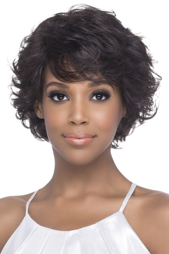 Short Pure Stretched Cap Natural Layered Spiral Curl Wig Lisha