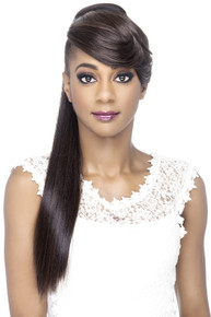 "Vivica A. Fox 24"" Long Yaki Clip & Bang and Pony BP-Floral Hairpiece"
