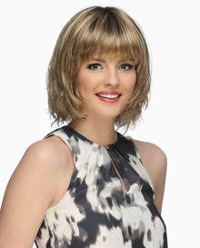 Estetica Pure Stretch Cap Full Wig Hunter Mono Crown, Layers Bob & Waves Color RH12/26RT4