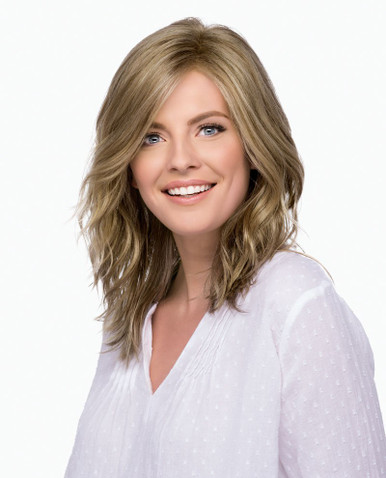 Estetica Front Lace Wig Avalon Below the Shoulder Style w/ Loose Waves Color RH1226