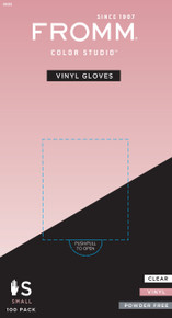 100-Pack Clear Vinyl Gloves Powder Free No Latex Small Size