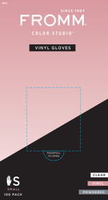 100-Pack Clear Vinyl Gloves Powdered No Latex Small Size