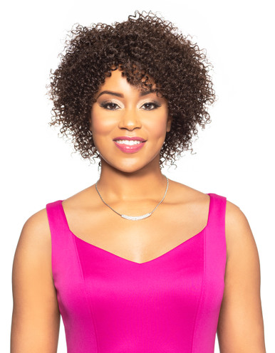 Foxy Lady Curly Human Hair Full Wig Lula Show your Gorgeous Beauty