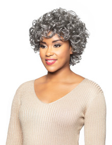 Foxy Silver Curly Human Hair Full Wig Gertrude Show your Gorgeous Beauty