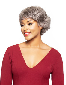 Foxy Silver Wavy Human Hair Full Wig Bailey Grey Available