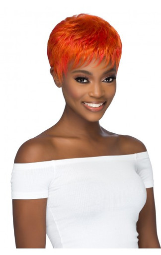 Short Layered Feathered Cut Pure Stretch Cap Wig Lena