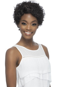 Remi Tapered Curly Short Cut w/ Side Part Pure Stretch Cap Wig Romilly